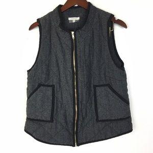41 Hawthorn XL Vest Tweed Stitch Fix Black Gold
